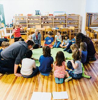 Raum der Montessori Schule Berlin